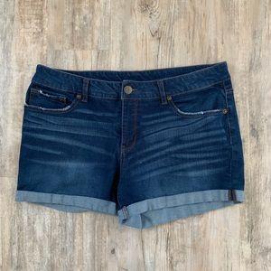 Time and Tru Women's Dark Wash Shorts Size 16